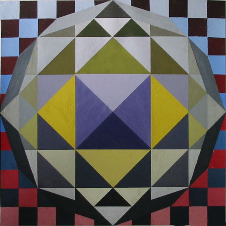 Circle composed of geometric shapes (Acrylic)